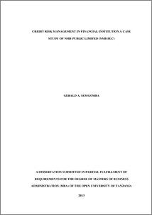 Dissertation credit management