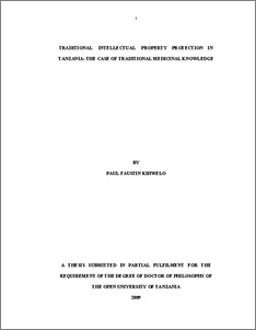 intellectual property (lw 556) dissertation - University of Kent