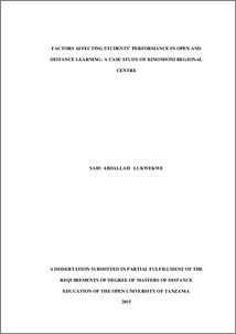 Distance learning dissertation