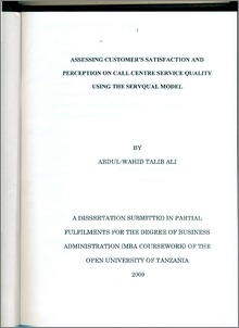 customer's perception of service quality of Customer's perception of reliability, assurance,  (1990) proposed an alternative method and defined service quality as the customer's overall service.