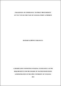 Dissertation public procurement